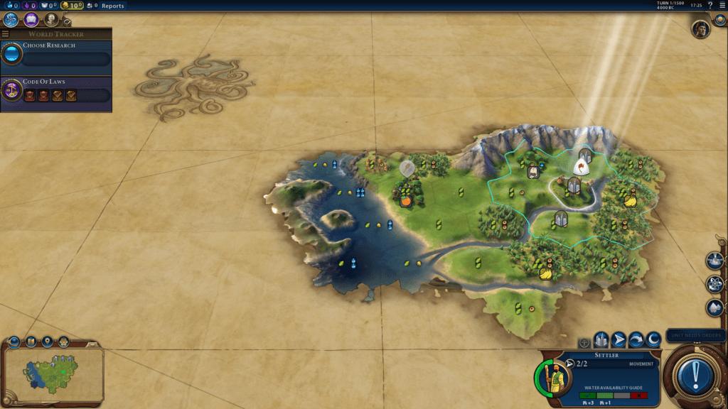 Civilization 6 First Turn