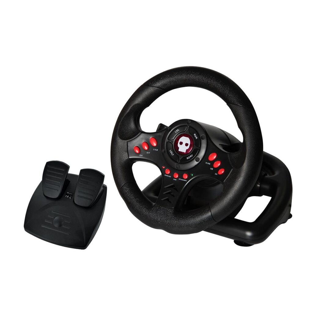 Numskull Multi-Format Steering Wheel with Pedals